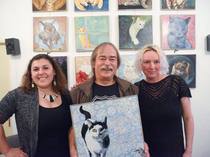 Aukce obrazu kočičky Sisi od Romany Štryncl